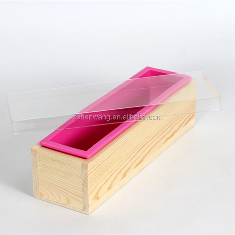 D0019 customized FDA silicone loaf <strong>molds</strong> with wooden box