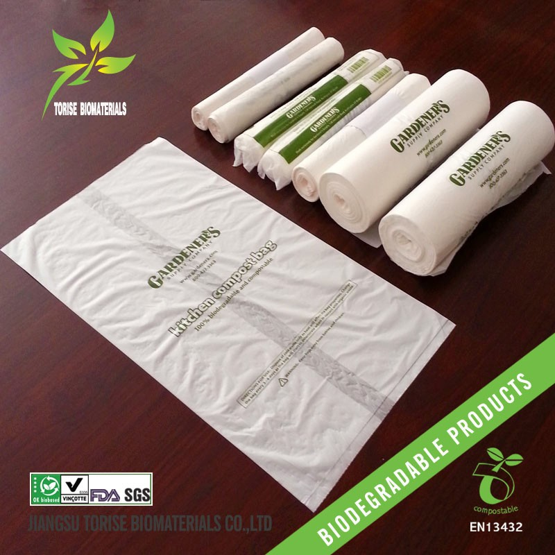 EN13432/BPI certified cornstarch based biodegradable can liner