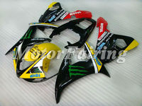 for yamaha 2005 yzf r6 bodykit 2003 2004 2005 yzf r6 03 04 05 r6 fairing kit r6 05 r6 race fairings 03 05 yzf r6 yellow black