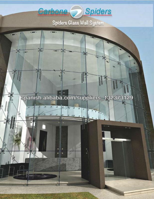 Herrajes para fachadas de vidrio sistema de ara as - Productos para impermeabilizar fachadas ...