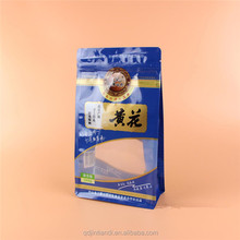 customed shaped decorative resealable stand up pouch printable plastic food flat bottom bags