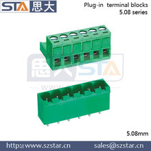 Screw 2-24p pitch 5.08mm pcb connector male female
