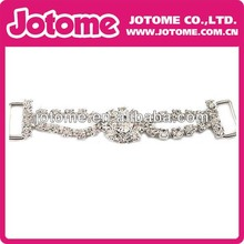 Wholesale new design rhinestone bikini connector for bikini strap