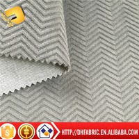 100%polyester knitted brushed burn out sofa fabric of factory