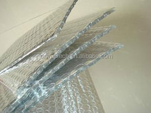 Sun reflective material with aluminum foil bubble insulation