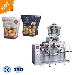 Automatic doy bag candy packing machine with zipper coffee bean nuts doy pack weighing feeding pouch packaging machine