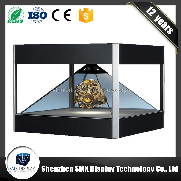 China factory exports high quality 3D holo Advertising display showcase 360 degree holographic display 3d pyramid