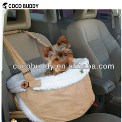 High quality suede fabric cover pet dog booster seat carrier anto travel