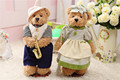 custom made plush bear wedding dressed teddy bear