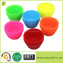 Colorful Silicone Teacup Cupcake Baking Molds