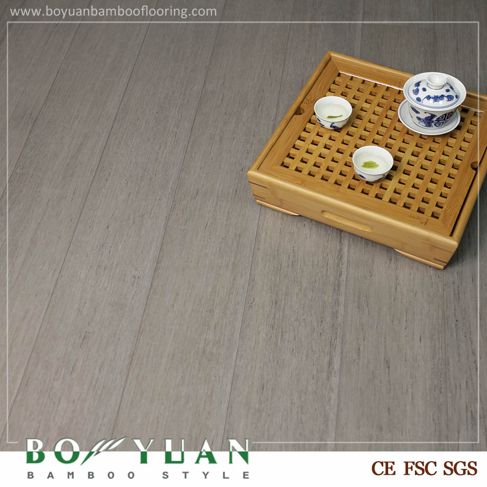Click Lock Grey Color Strand Woven Bamboo Flooring
