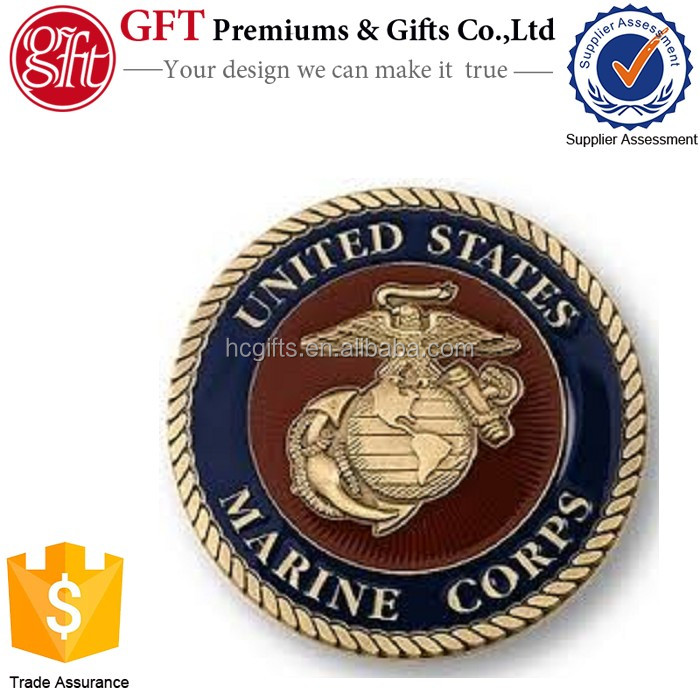 Quick production custom Challenge Coin Usmc Marine Corps