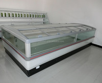 supermarket open top refrigerated display island case