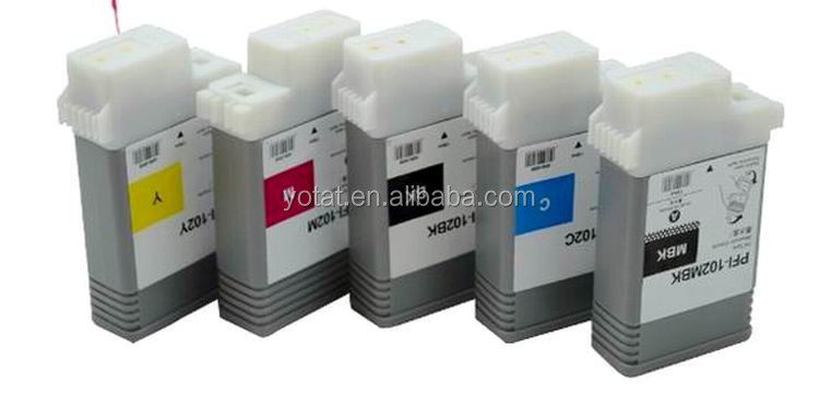 12pcs Compatible ink cartridge PFI-<strong>102</strong> for Canon IPF605