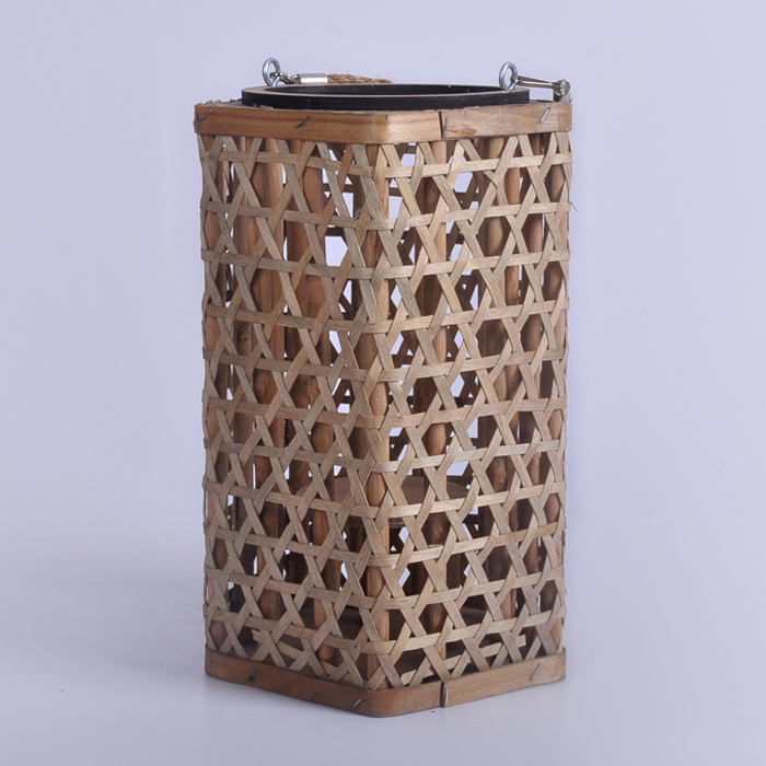 rattan candle glass holders for home decoration
