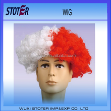 2016 Euro cup cheap factory direct factory direct red white football match Wig