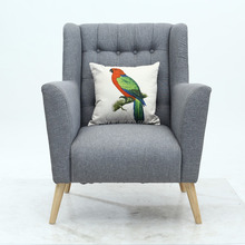 Grey Fabric High Back Living Room Home Furniture Single Sofa Chair
