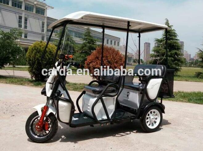 high quality electric tricycle for elder with cabin with basket for shopping