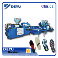 Full automatic Two injection head Three-color soles injection molding machine