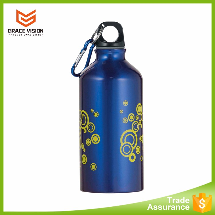 Customized Promotional Carabiner Aluminum Water Bottle