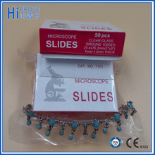 High grade disposable laboratory use frosted prepared microscope glass slides 7101/7105