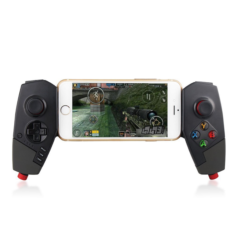 Adjustable Wireless Bluetooth Game Pad Controller Telescopic Gamepad Joystick for Cellphone/Tablet/PC etc