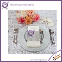 PZ22650 silver cheap rope wedding hot seller best Glass wholesale charger plates
