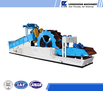 large capacity low investment double screw sand wash machine