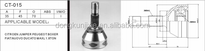 Auto outer cvjoint CT-015 for car