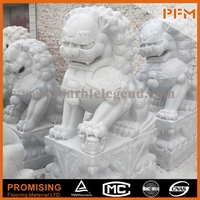 latest hot sale cheap well polished carved stone foo dogs