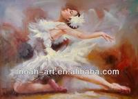Beautiful Nude Ballet Girl Oil Painting
