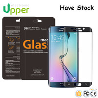 Full Screen Cover For Samsung galaxy S6 edge Tempered glass / 3D Curved Tempered glass Samsung galaxy s6 edge screen protector