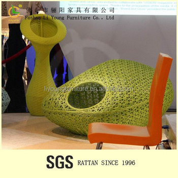 yellow flower vase LG91-0634/Rattan furniture factory