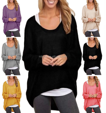 Women Oversized Loose Long Sleeve Shirt Ladies Baggy Tops Blouse Batwing Jumper Blouses Wholesale
