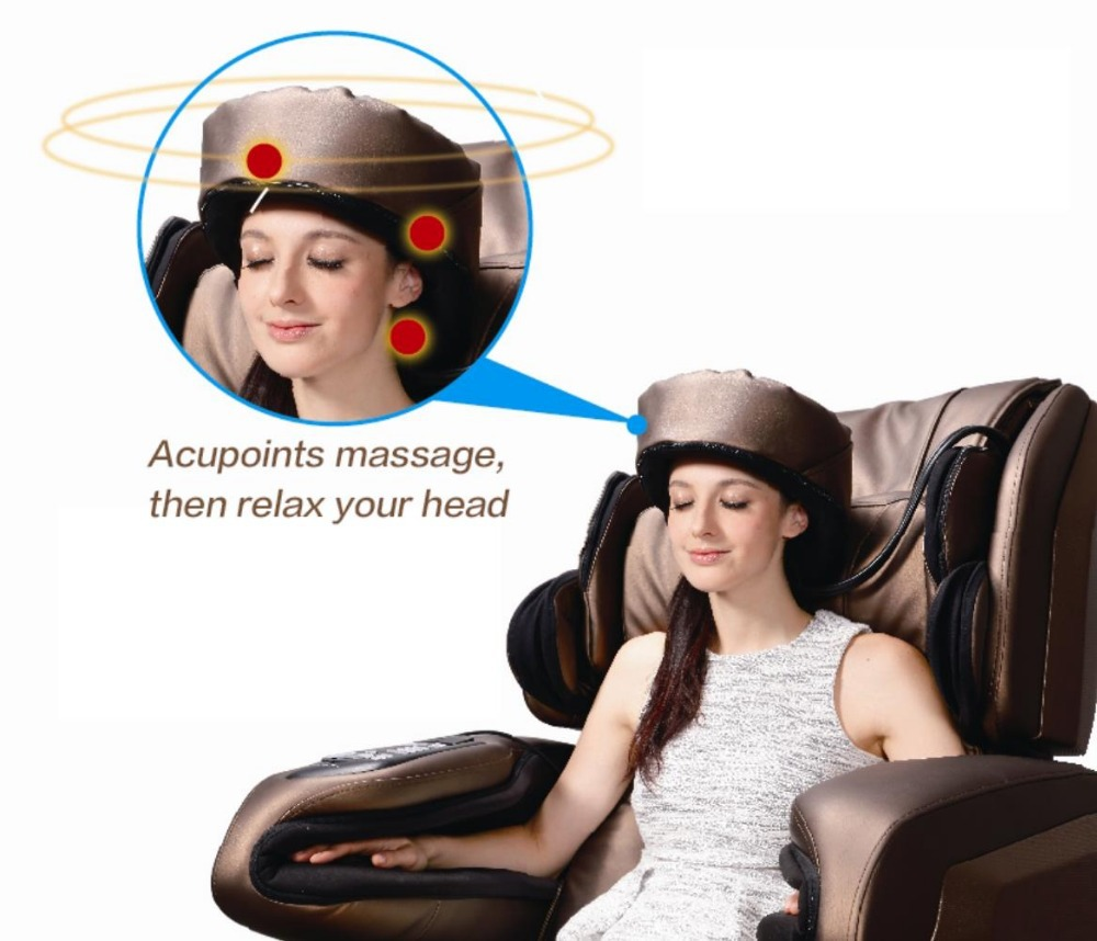Deluxe Zero Gravity 3D air retraction technology full body massage chair