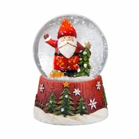 Resin 3D santa claus decoration water snow globes wholesales