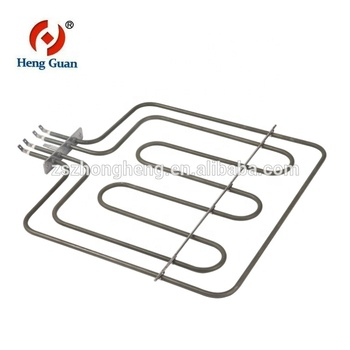 Electric resistance heating element for deep fryer