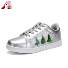 Wholesale footwear new design full screen kids light shoes girls dancing shoes luminous high cut LED shoes