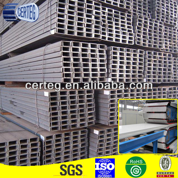 HDG A36 SS400 Metal Building Steel C Channel