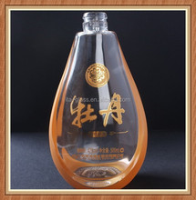 China professional factory customer unique shape wholesale glass wine bottle
