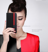 Contrast color Fashion PU Leather Wallet Flip Mobile Phone Case Cover For Sony Z2 L50T L50U