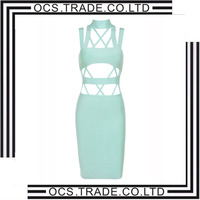 New arrive summer bandage dress Dress Two-piece Set 90% Rayon extreme sexy bandage dress