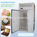 Used blast freezer for food(meat, fish, chocolate,vegetables)