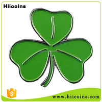 Lucky Shamrock Green Gold Enamel Tone Metal Lapel Pin