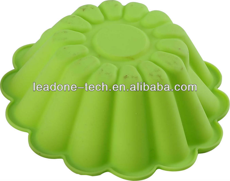 Hot! Free shipping Wholesale DIY pumpkin shape silicone cake mold / cake mold / muffin mold / soap mold / silicone bakeware