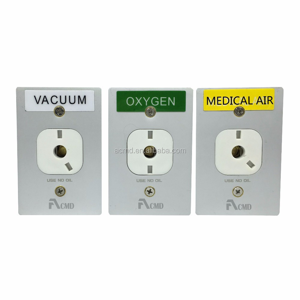 Medical Oxygen Gas Medical DISS Gas Outlets For Bed Head Panel