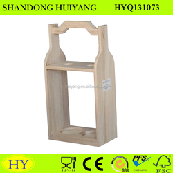 cheap natural wooden beer wine carrier wholesale