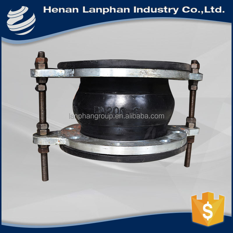 2016 flexible single ball rubber expansion joints for oil supply