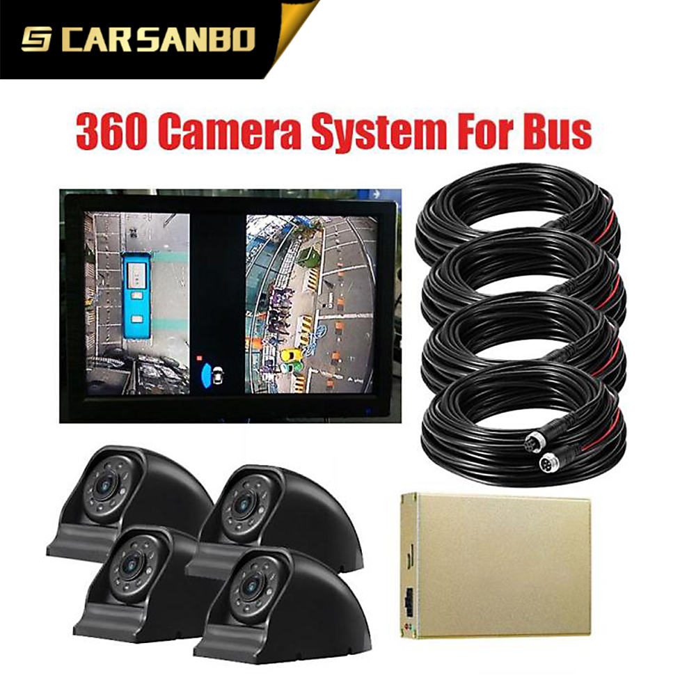 Super Definition 2D 1080P car surveillance camera 360 degree for heavy truck