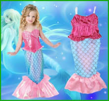 Baby Girls Clothes The Little Mermaid Ariel Kids Girls Dresses Princess Cosplay Halloween Costume